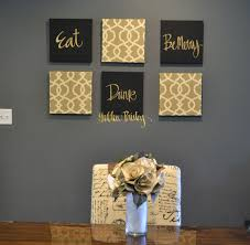 Gold Wall Art Live Laugh Love Wall Art Pack Of 6 Canvas Wall Hangings  Painting Fabric Upholstered Large Living Room Decor Modern Chic Beige Black  & Gold