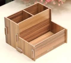 e32 wooden makeup storage box drawer cosmetics bathroom home organizer cabinet q
