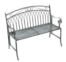 black backless patio bench aluminum outdoor cast metal benches blue garden seats for