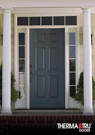 painted residential front doors. Delighful Residential ThermaTru SmoothStar Fiberglass Door Painted Gale Force For Painted Residential Front Doors N