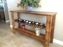 Sofa table with wine storage Rustic Style Wine Racks Sofa Table With Wine Rack Sofa Table With Wine Storage Reclaimed Barn Wood Target Wine Racks Sofa Table With Wine Rack Wine Racks Sofa Table With