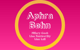 Aphra Behn Presentation by Hillary Cook