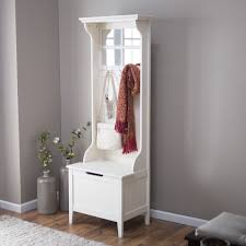 Furniture Corner Hall Tree Storage Bench With Shoes And White Mini
