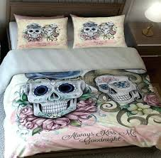 skull bedding sugar skulls duvet comforter cover by day of the dead skull duvet
