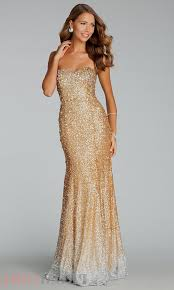 Gold Sequin Prom Dress 2016