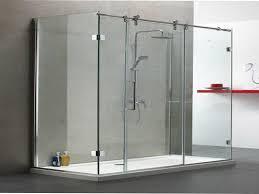 image of frameless sliding glass shower doors large