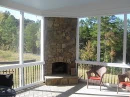 screened porch with fireplace design screened in porch ideas