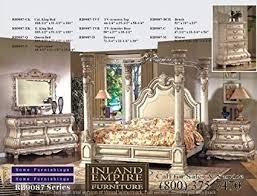 Amazon.com: Inland Empire Furniture Arianna Antique White Wash Solid ...