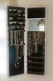 hanging jewelry box new mirror jewelry armoire cabinet over door organizer or wall hang