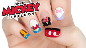 Disney's Mickey Mouse And Friends Nail Art Design! - YouTube