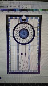 stained glass design internal door transom bristol stained glass design1