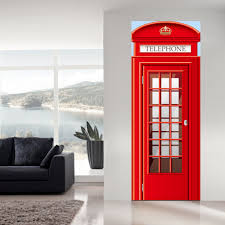 exterior door stickers. aliexpress.com : buy jermyn 2 pcs/set telephone booth door stickers diy mural bedroom home decor poster waterproof imitation 3d wall sticker decal from exterior i
