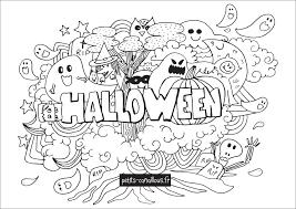 Coloriage D Halloween Qui Fait Peur Free Coloriage En Ligne Gratuit