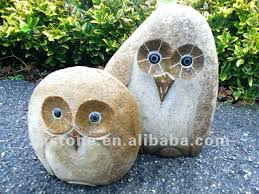 concrete owl garden statues popular statue white marble stone mini carvings