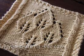 Leaf Knitting Pattern New Four Leaf Lace Panel ⋆ Knitting Bee