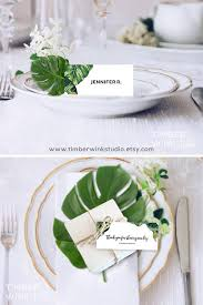 Place Setting Template Delectable Tropical Wedding Place Card Printable Name Cards Escort Card