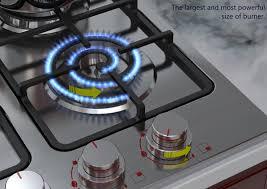 spiral burner cooktop gas stove