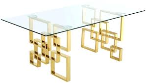 t 1 glass and gold dining table room with legs by meridian furniture dining table glass