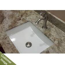 undermount bathroom sink. RonBow 200520-WH Rectangle Ceramic Undermount Bathroom Sink With Overflow In White R