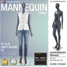 Pre-order Mannequin Female Full Body <b>Matte Black Color</b> For <b>Clothes</b>