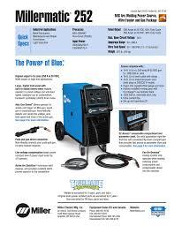 Millermatic 252 Miller Electric Manualzz Com