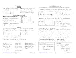 calculus review sheet infinite series cheat sheet ponteio cinema bh programacao