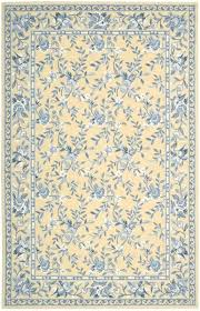 blue yellow area rug traditional french country and fl rugs decor