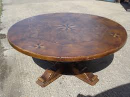 round walnut dining table. Large Round Walnut Dining Table - 6ft Diameter Jacobean Revival To Seat Up 10 People