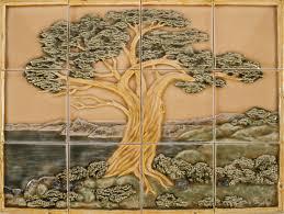 Decorative Relief Tiles AAZ Large Tree Panel 100x100 100 tiles Pratt Larson 4