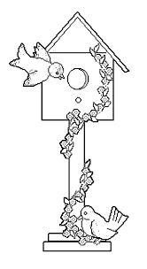 Small Picture Bird House Coloring Page Wecoloringpage Coloring Home
