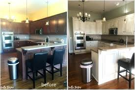 kitchen cabinet painting cream cabinets before and after cherry white antique photos