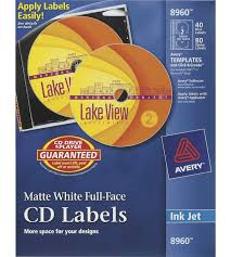 Dvd Face Template Avery Customize Full Face Cd Dvd Label For Inkjet Printers Matte White Pack Of 40