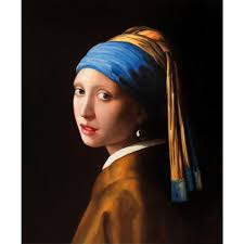 portrait painting girl with pearl earring johannes vermeer woman figure oil paintings hand painted stretched framed