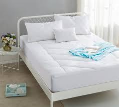 thick mattress pad. Simple Mattress Down Alternative Fill Cotton Blend Top  Added Thickness Queen Mattress Pad On Thick E