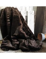 bison brown faux fur throws large fur