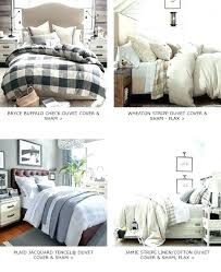 buffalo plaid duvet cover king check covers flannel sham stripe pottery barn insert pott