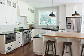 Backsplash With Dark Countertops Kitchen White Kitchen Cabinets