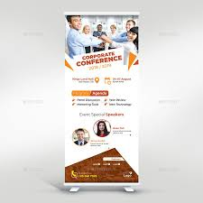 Meeting Flyer Design Conference Roll Up Banner Brochure Template Roll Up
