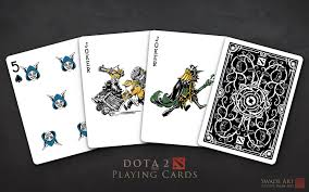 artstation official dota 2 playing cards swade scott wade