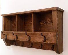 Rubbed Bronze Coat Rack Wide hat coat rack with shelf Wall mounted solid wood display 45