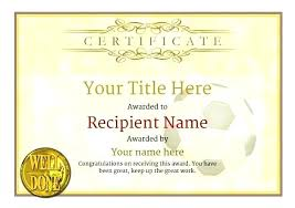 Award Certificates Word Gorgeous Soccer Certificate Template New Soccer Field Templates Template Word