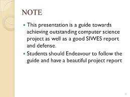 Project Seminar Computer Science Department Faculty Of Science ...