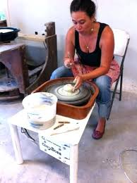 diy potters wheel our instructor showing us how to make a vase at the coastal arts