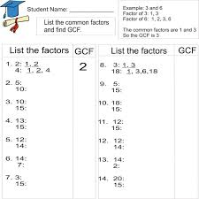 Lcm Math Worksheets Leastommon Multiple And Greatest Aids 6th ...