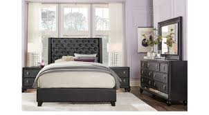 Sofia Vergara Paris Black 5 Pc Queen Upholstered Bedroom
