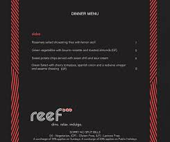 Autumn Dinner Menus New Autumn Dinner Menu Apr 2018 Picture Of Reef Bar Grill Forster