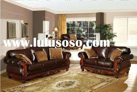 italian leather sofa with wood trim great and wooden manufacturers in