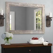 Image Silver Coastal Bathroom Mirror Wayfair Bathroom Mirrors Youll Love Wayfair