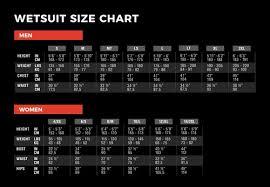 Xcel Wetsuit Size Chart Surf Life Saving New Zealand Partner Offer Exitsurf