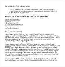 How To Write A Termination Letter To An Employee Interesting 44 Free Termination Letter Templates PDF DOC Free Premium